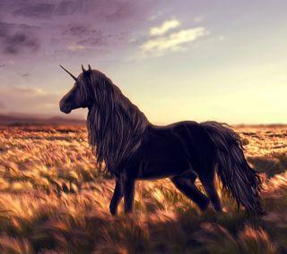 Обои на телефон трава, лошадь, единорог, арт, hd, art