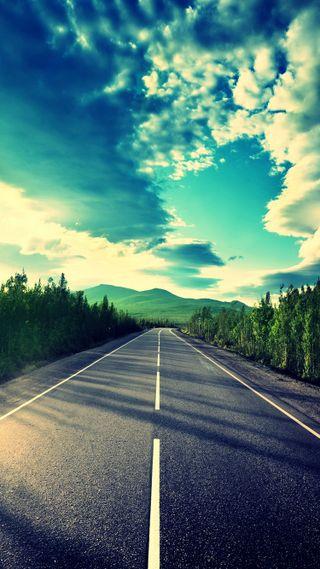 Обои на телефон красота, приятные, природа, небо, крутые, классные, закат, дорога, вид