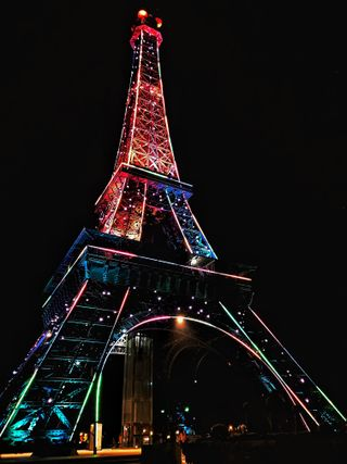 Обои на телефон париж, цветные, франция, светящиеся, пакистан, неоновые, город, башня, landmark, bahria town