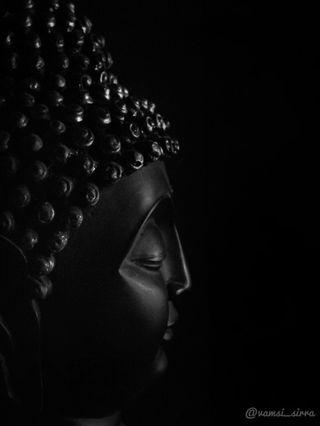 Обои на телефон статуя, будда, черные, gautam buddha, buddha statue, black buddha