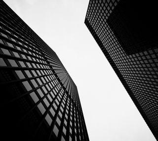 Обои на телефон здания, черные, белые, hd