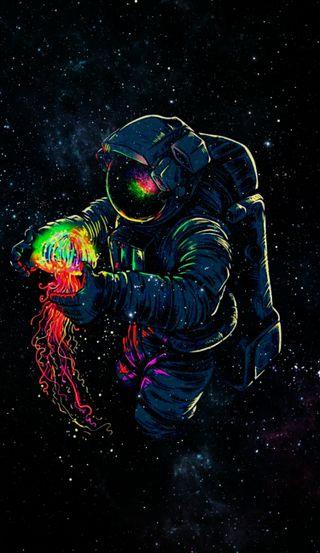 Обои на телефон цветные, космос, color full