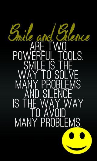Обои на телефон тишина, цитата, смайлики, поговорка, новый, мощный, крутые, знаки, tools, smile and silence