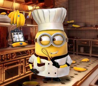 Обои на телефон миньоны, забавные, милые, cook, chef