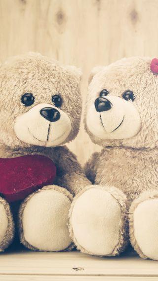 Обои на телефон тедди, медведь, любовь, животные, stuffed animal, love
