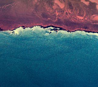 Обои на телефон зефир, синие, пляж, океан, красые, андроид, android m