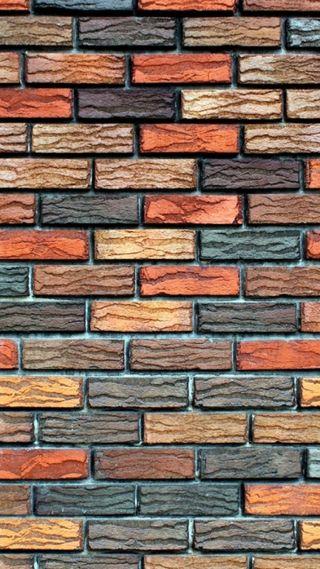 Обои на телефон кирпичи, стена, bricks wall
