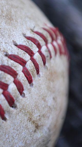 Обои на телефон спортивные, мяч, красые, белые, бейсбол