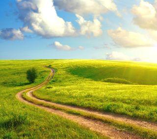 Обои на телефон природа, пейзаж, небо, дорога