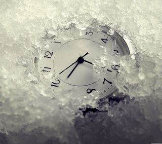 Обои на телефон часы, холодное, лед, время, frozen time