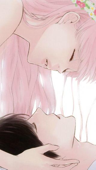 Обои на телефон поцелуй, милые, аниме