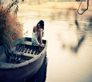 Обои на телефон лодки, одиночество, любовь, девушки, грустные, love