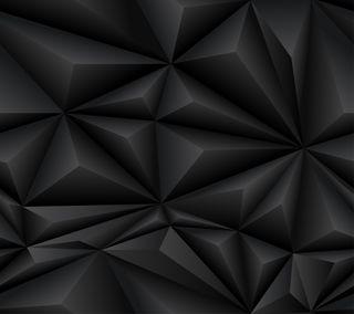 Обои на телефон современные, черные, фон, дизайн, абстрактные, polygons, 3 d