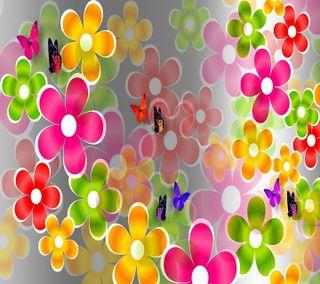 Обои на телефон коллаж, цветы, лето, красочные, бабочки, summer collage