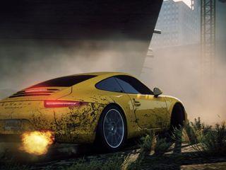 Обои на телефон porsche, porsche 911, машины, желтые, скорость, тюнинг, гоночные, порше