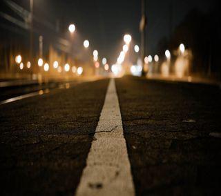 Обои на телефон свет, ночь, дорога, город
