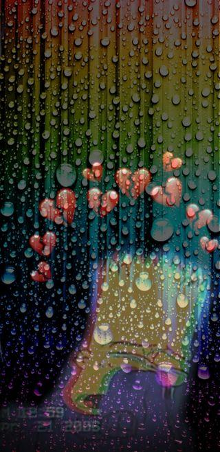Обои на телефон капли дождя, грустные, барт, heartbroken bart