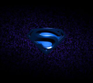 Обои на телефон супермен, синие, логотипы
