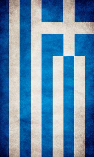 Обои на телефон флаг, греция