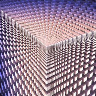 Обои на телефон фрактал, формы, куб, коробка, квадратные, абстрактные, 3д, 3d