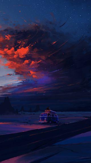 Обои на телефон барса, цветные, фото, ночь, небо, звездное, взрыв, айфон, hd, 4k iphone wallpaper, 4k