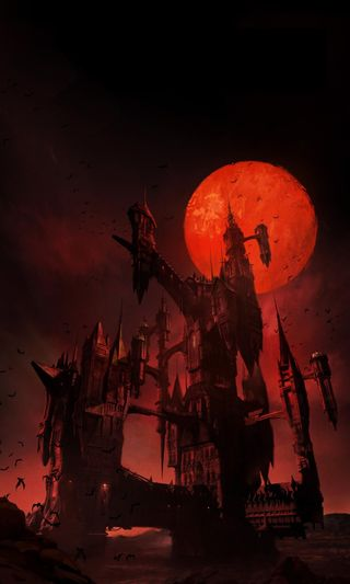 Обои на телефон вампиры, хэллоуин, ужасы, постер, луна, замок, дракула, аниме, trevor, netflix poster, netflix, castlevania, belmont