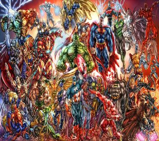 Обои на телефон железный человек, супермен, справедливость, мстители, марвел, лига, бэтмен, marvel, jl and avengers, dc