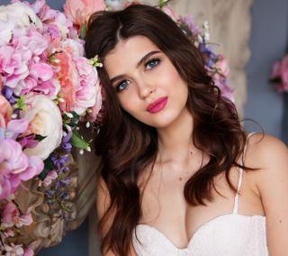 Обои на телефон модели, цветы, прекрасные, милые, девушки, hd
