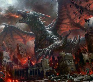Обои на телефон змея, фантазия, смерть, пламя, огонь, дрейк, дракон, dragonflame, dragon, destroy