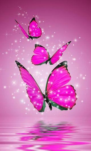 Обои на телефон блестящие, бабочки