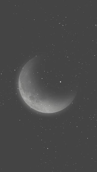 Обои на телефон черные, ночь, луна, звезды, 2017