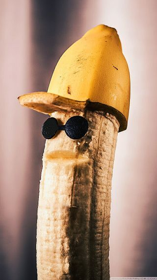 Обои на телефон шляпа, железный, банан, hat banana