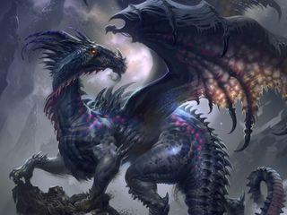 Обои на телефон опасные, фантазия, темные, огонь, игра, дракон, hd, dragon