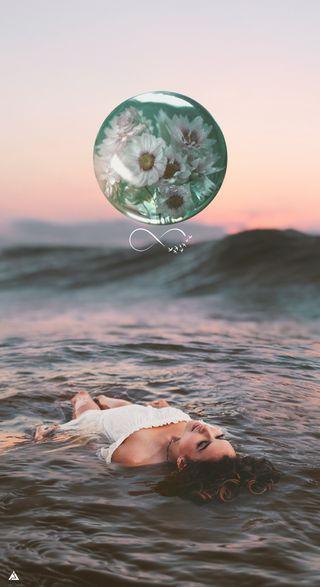 Обои на телефон фотошоп, одиночество, море, манипуляция, любовь, девушки, грустные, арт, love, invinty, cry, art