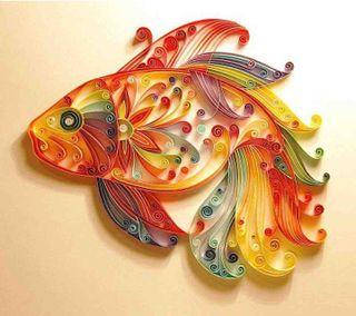 Обои на телефон бумага, рыба, дизайн, paper design