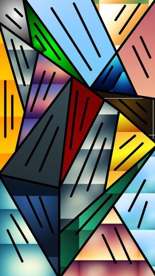 Обои на телефон треугольники, абстрактные, figures, abstract triangles
