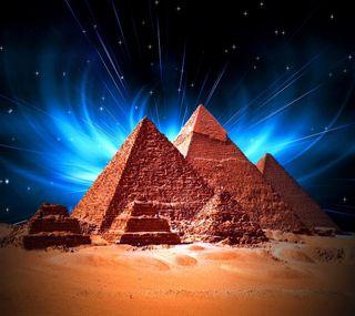 Обои на телефон египет, синие, природа, пирамиды, ночь, звезды, night blue stars, nature egypt
