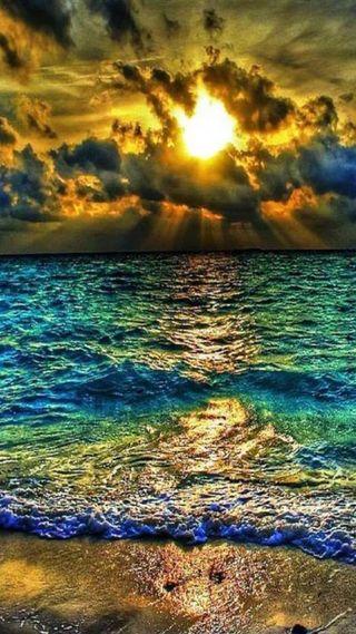 Обои на телефон море, закат, sea sunset