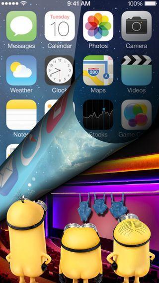 Обои на телефон экран, эпл, миньоны, айфон, xando, iphone, ios, apple minions, apple