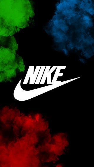 Обои на телефон сумасшедшие, дым, синие, найк, логотипы, красые, красочные, зеленые, взрыв, rgb, nike