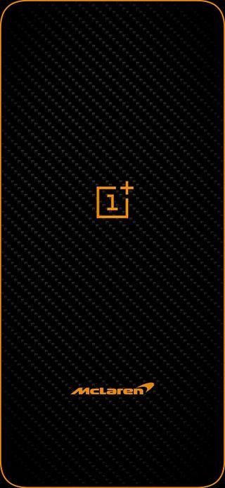 Обои на телефон темные, про, оранжевые, макларен, карбон, грани, волокно, амолед, oneplus, mclaren, amoled, 7t pro, 7 pro