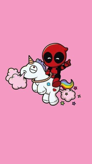 Обои на телефон черные, розовые, мертвый, красые, единорог, дэдпул, pool, deadpool unicorn6