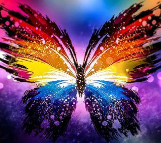 Обои на телефон бабочки, цветные, арт, art
