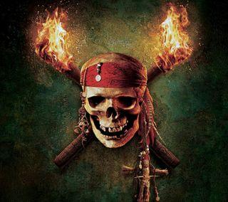 Обои на телефон пираты, череп, карибсий