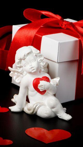 Обои на телефон лепестки, сердце, романтика, розы, подарок, день, валентинка, cupid