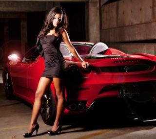 Обои на телефон феррари, стильные, милые, машины, красые, девушки, red car, hd, girl with ferrari, ferrari