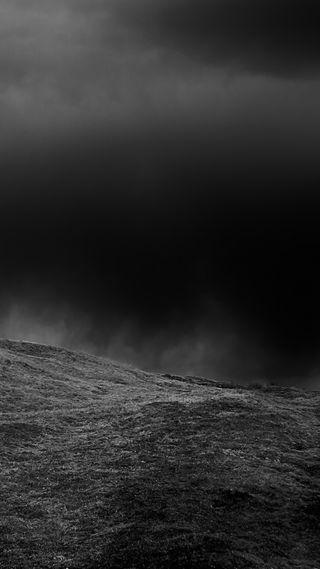 Обои на телефон холм, черные, темные, небо, готы