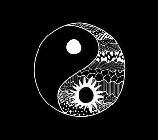 Обои на телефон yinyang, черные, логотипы, белые, будущее