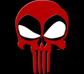 Обои на телефон икона, череп, символы, символ, логотипы, красые, каратель, дэдпул, villians, superheros, fictional