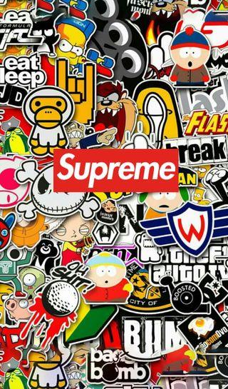 Обои на телефон рок, наклейки, бренды, арт, sticker supreme, art